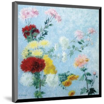 Study of Chrysanthemums-Achille Lauge-Mounted Premium Giclee Print