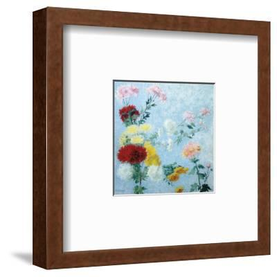 Study of Chrysanthemums-Achille Lauge-Framed Premium Giclee Print