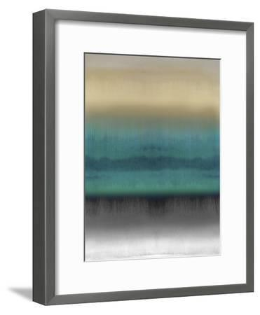 Mirrored Metal - Aqua-Chloe Larsen-Framed Giclee Print
