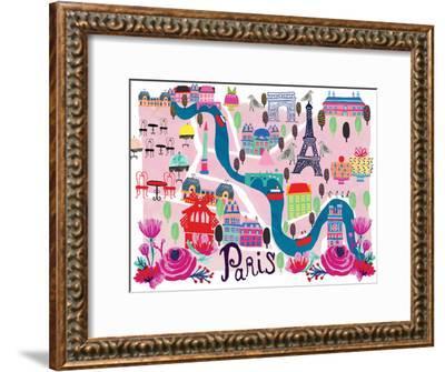 Paris Map-Rachael Schafer-Framed Art Print