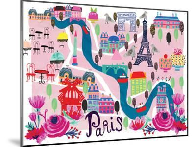 Paris Map-Rachael Schafer-Mounted Art Print
