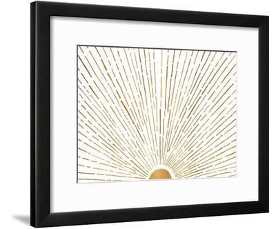 Let The Sunshine In-Modern Tropical-Framed Art Print