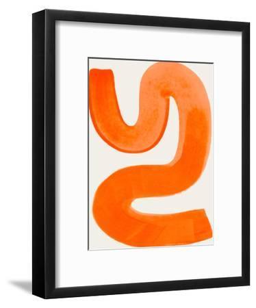 Orange Shrug-Ejaaz Haniff-Framed Art Print