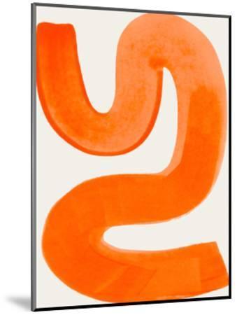 Orange Shrug-Ejaaz Haniff-Mounted Art Print