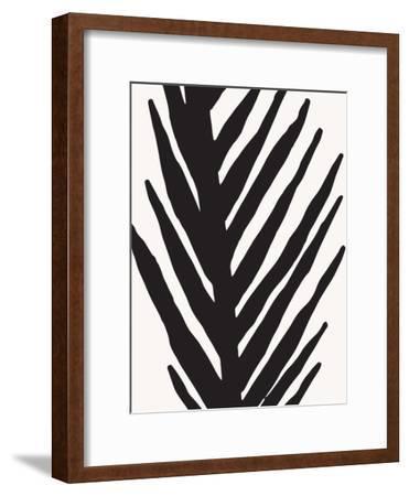 Abstract Minimal Palm-Modern Tropical-Framed Art Print