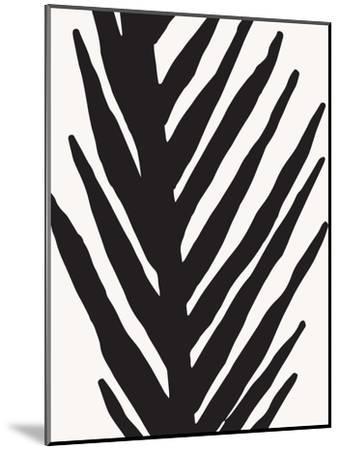 Abstract Minimal Palm-Modern Tropical-Mounted Art Print