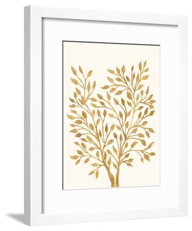 Golden Ficus-Modern Tropical-Framed Art Print