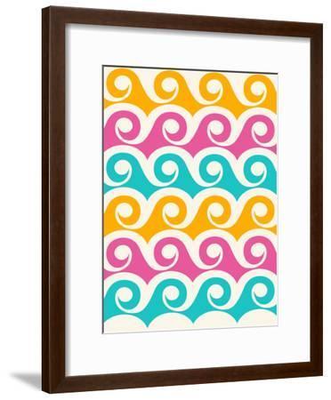 Bright Tropical Waves-Modern Tropical-Framed Art Print