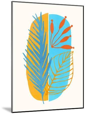 Beach Flora Abstract-Modern Tropical-Mounted Art Print