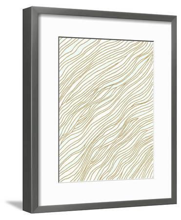 Currents-Modern Tropical-Framed Art Print