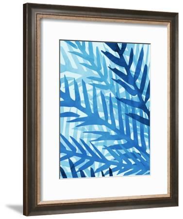 Blue Jungle-Modern Tropical-Framed Art Print