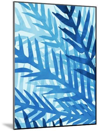 Blue Jungle-Modern Tropical-Mounted Art Print