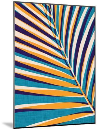 Abstract Palm Leaf-Modern Tropical-Mounted Art Print