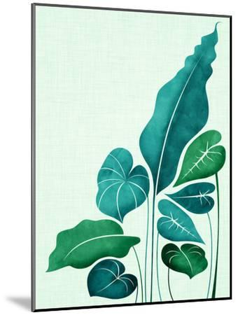 Cacophony In Teal-Modern Tropical-Mounted Art Print
