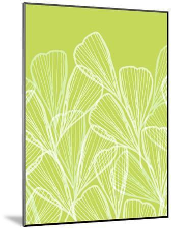 Floral Abstract In Summer Green-Modern Tropical-Mounted Art Print