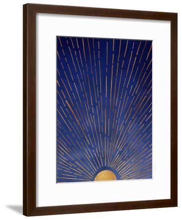 Twilight-Modern Tropical-Framed Art Print