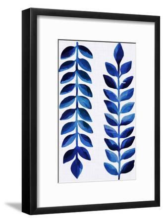 Tropical Indigo-Modern Tropical-Framed Art Print