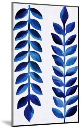 Tropical Indigo-Modern Tropical-Mounted Art Print