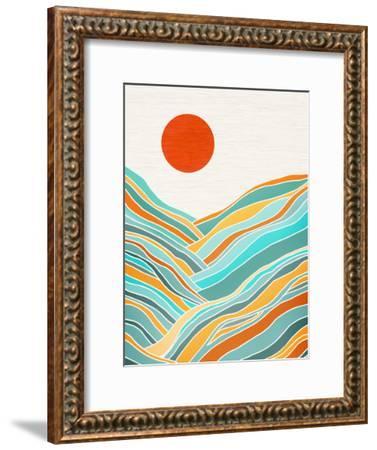 Sunset Landscape-Modern Tropical-Framed Art Print