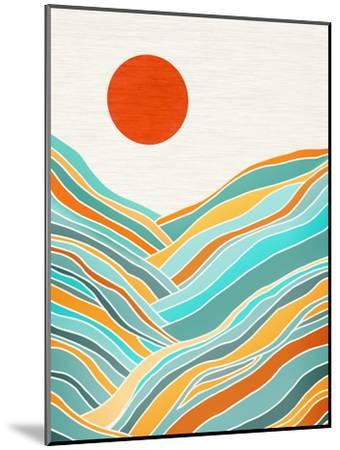 Sunset Landscape-Modern Tropical-Mounted Art Print