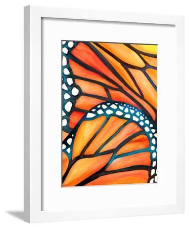 Monarch-Modern Tropical-Framed Art Print