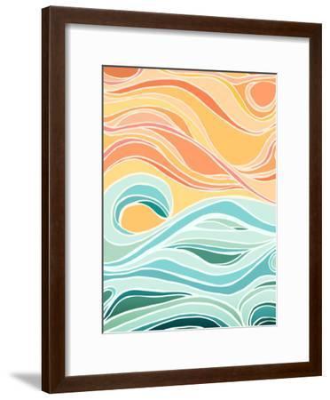 Sky And Sea-Modern Tropical-Framed Art Print
