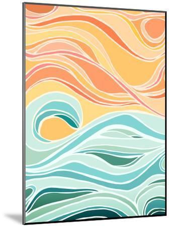 Sky And Sea-Modern Tropical-Mounted Art Print