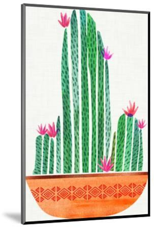 Tiny Cactus Blossoms-Modern Tropical-Mounted Art Print