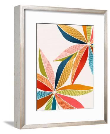 Multicolorful-Modern Tropical-Framed Art Print