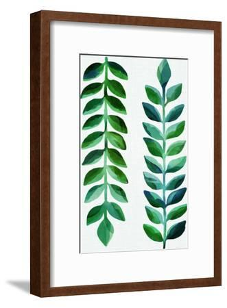 Tropical Emerald-Modern Tropical-Framed Art Print