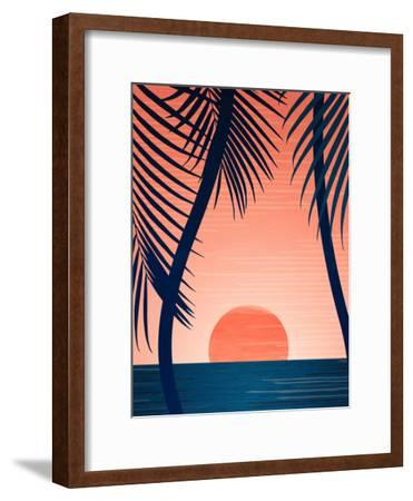 Peace And Palms-Modern Tropical-Framed Art Print