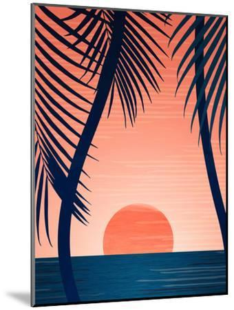 Peace And Palms-Modern Tropical-Mounted Art Print