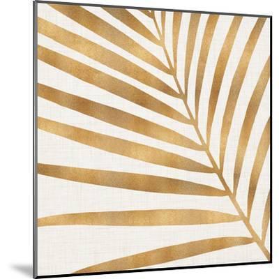 Gold Palm Leaf-Modern Tropical-Mounted Art Print