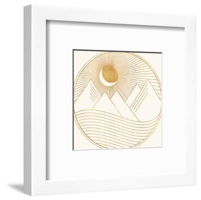 Golden Landscape-Modern Tropical-Framed Art Print