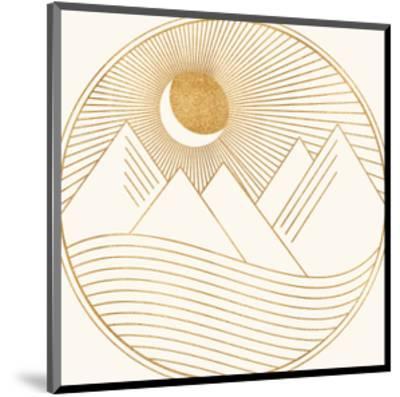 Golden Landscape-Modern Tropical-Mounted Art Print