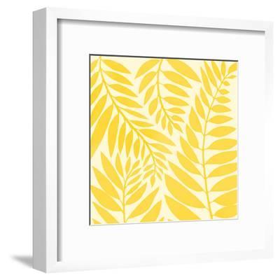 Golden Yellow Leaves-Modern Tropical-Framed Art Print