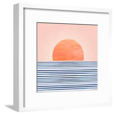 Minimal Sunrise Ii-Modern Tropical-Framed Art Print