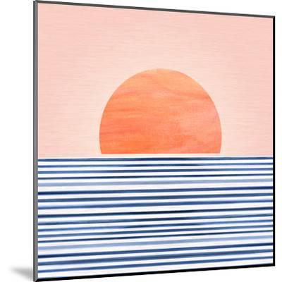 Minimal Sunrise Ii-Modern Tropical-Mounted Art Print