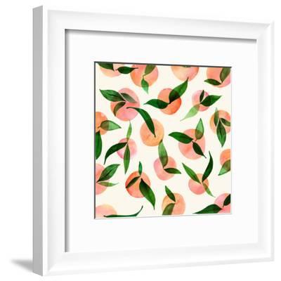 Summer Fruit Pattern-Modern Tropical-Framed Art Print