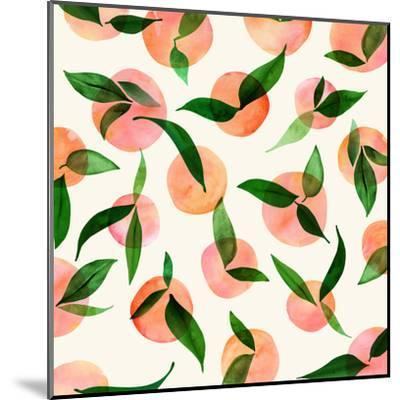 Summer Fruit Pattern-Modern Tropical-Mounted Art Print