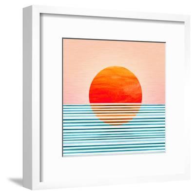Minimal Sunrise I-Modern Tropical-Framed Art Print