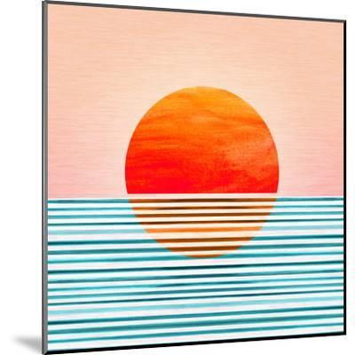 Minimal Sunrise I-Modern Tropical-Mounted Art Print