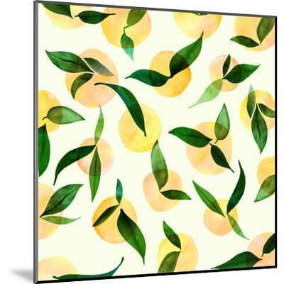 Wild Lemons-Modern Tropical-Mounted Art Print