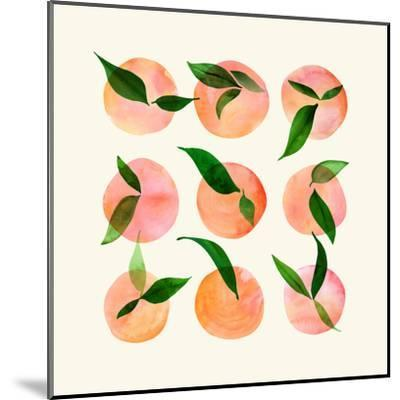 Wild Orchard-Modern Tropical-Mounted Art Print