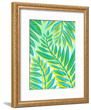 Jungle Vines-Modern Tropical-Framed Art Print