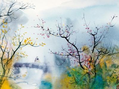 Lovers at Chi Tou-Chi Wen-Framed Premium Giclee Print