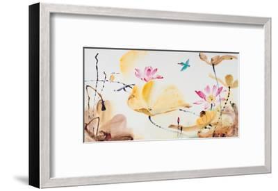 Autumn Lotus-Chi Wen-Framed Giclee Print