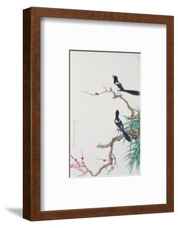 Happy Birds in Plum Tree-Hsi-Tsun Chang-Framed Premium Giclee Print