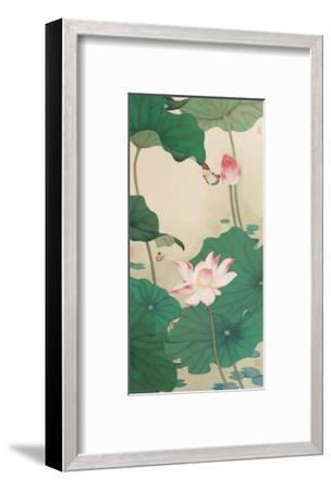 Two Butterflies and Lotuses-Hsi-Tsun Chang-Framed Giclee Print