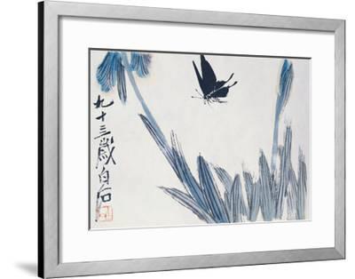 Dancing Butterfly-Baishi Qi-Framed Giclee Print